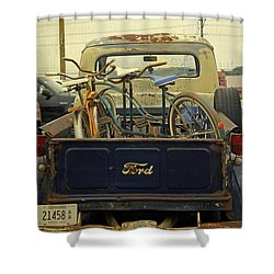 Rusty Haul Shower Curtain by Laurie Perry