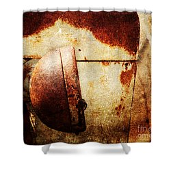 Rusty Headlamp Shower Curtain