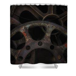 Rusty Iron Gears Shower Curtain