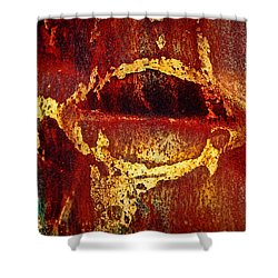 Rusty Kiss Shower Curtain