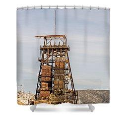 Rusty Mining Headframe Shower Curtain by Sue Smith