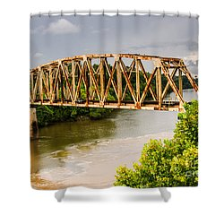 Rusty Old Railroad Bridge Shower Curtain by Sue Smith