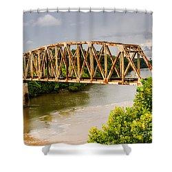 Rusty Old Railroad Bridge Shower Curtain