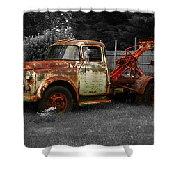 Rusty Tow Truck Shower Curtain