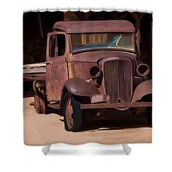 Rusty Truck 04 Shower Curtain by Wally Hampton