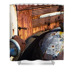 Rusty Truck Detail Shower Curtain by Garry Gay