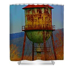Rusty Water Tower Shower Curtain by Beth Ferris Sale