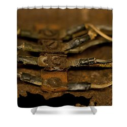 Rusty Wires Shower Curtain