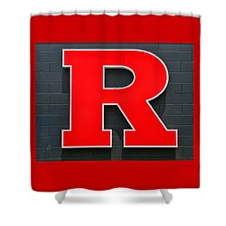 Rutgers Block R Shower Curtain