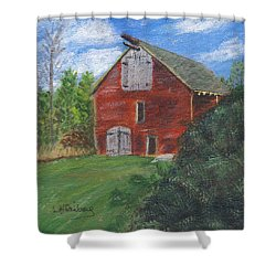 Ruth's Barn Shower Curtain