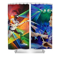 Shower Curtain featuring the painting Ryan And Kris by Joshua Morton
