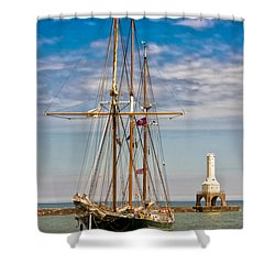 s/v Denis Sullivan Shower Curtain