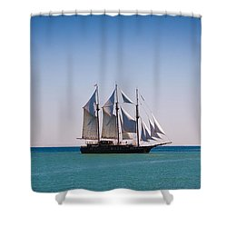 s/v Peacemaker Opening Shower Curtain