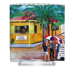 Sabor A Puerto Rico Shower Curtain by Luis F Rodriguez