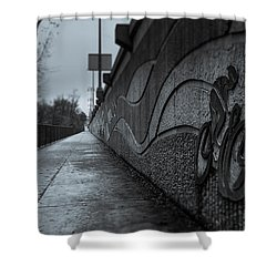 Sacramento River Trail At The Turtle Bay Park Shower Curtain