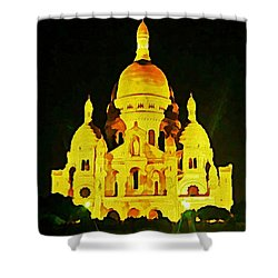 Sacre-coure Cathedral Paris  Shower Curtain by John Malone