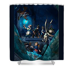 Sacred Burial Chamber Shower Curtain
