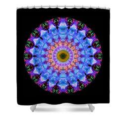 Sacred Crown - Mandala Art By Sharon Cummings Shower Curtain by Sharon Cummings
