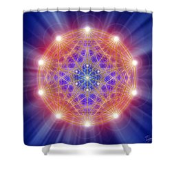 Sacred Geometry 168 Shower Curtain by Endre Balogh