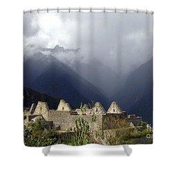 Sacred Mountain Echos Shower Curtain by Barbie Corbett-Newmin
