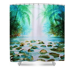 Sacred Pools Shower Curtain