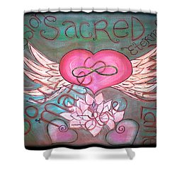 Sacred Soulmates And Twin Flames Shower Curtain by Absinthe Art By Michelle LeAnn Scott