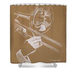 Sacred Trombone Shower Curtain