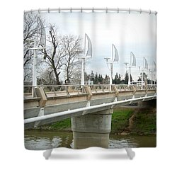 Sactown Water District Shower Curtain