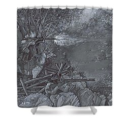 Saddle Sniper Shower Curtain