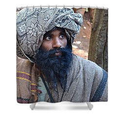 Sadhu At Amarkantak India Shower Curtain