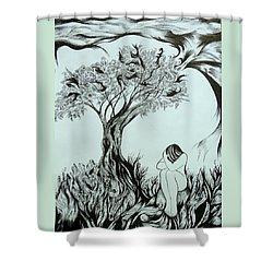 Sadness Shower Curtain by Anna  Duyunova
