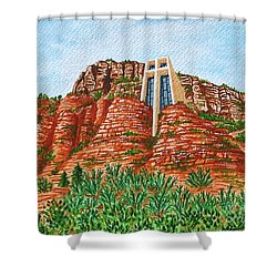 Sadona Church Shower Curtain