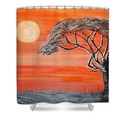 Safari Sunset 2 Shower Curtain
