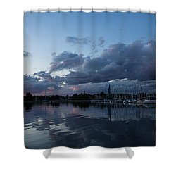 Safe Harbor After The Storm Shower Curtain by Georgia Mizuleva