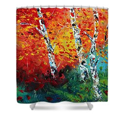 Safe Haven Shower Curtain by Meaghan Troup