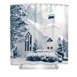 Historic Church Oella Maryland Usa Shower Curtain by Vizual Studio