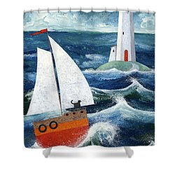 Safe Passage Shower Curtain by Peter Adderley
