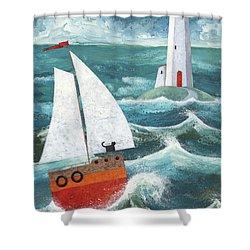 Safe Passage Variant 1 Shower Curtain by Peter Adderley