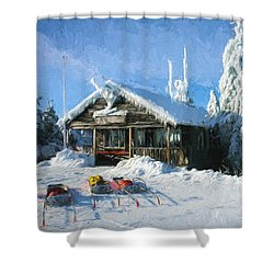 Safety Services Painted Shower Curtain