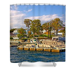 Sagamore Hotel - Lake George Shower Curtain by David Patterson