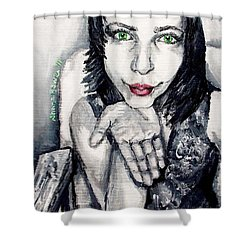 Shower Curtain featuring the painting Sage by Shana Rowe Jackson