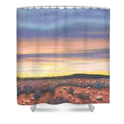 Sagebrush Sunset B Shower Curtain