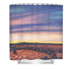 Sagebrush Sunset C Shower Curtain