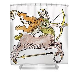 Sagittarius An Illustration Shower Curtain by Italian School