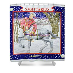 Sagittarius Wc On Paper Shower Curtain