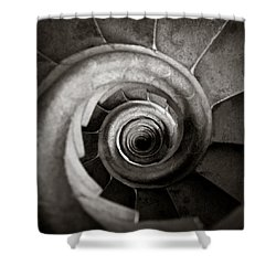 Sagrada Familia Steps Shower Curtain by Dave Bowman