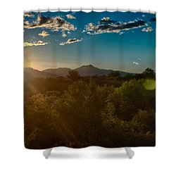 Shower Curtain featuring the photograph Saguaro National Park by Dan McManus