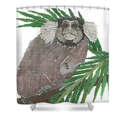 Tamarin Monkey Art Shower Curtain by Keiko Suzuki
