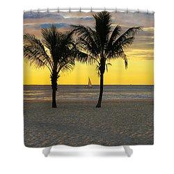 Sail Away At Dawn Shower Curtain