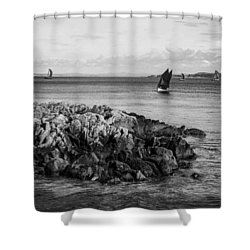 Sail Away Northern Ireland Shower Curtain